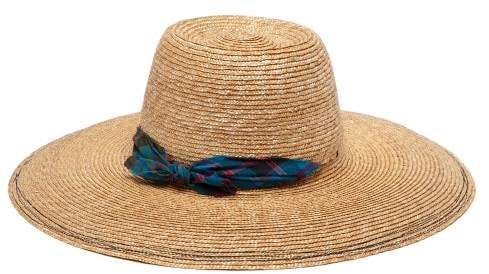 7ff1314f Embroidered Straw Hat - ShopStyle