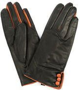 Jendi NEW Leather Gloves Black / Tan Small