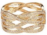 Natasha Accessories Twisted Crystal Cuff Bracelet