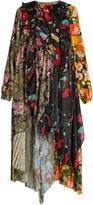 Balenciaga Romantic Ascot patchwork midi dress