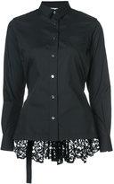 Sacai lace detail shirt - women - Cotton/Polyester - 1