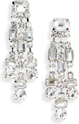 CRISTABELLE Crystal Chunky Drop Earrings