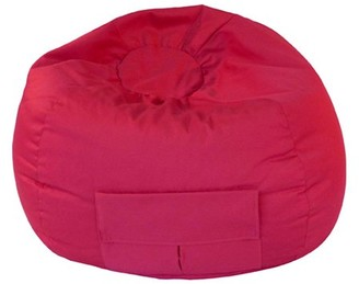 "Gold Medal Extra Large 140"" Red Denim Look Bean Bag with Cargo Pocket"
