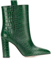 Paris Texas snakeskin effect ankle boots