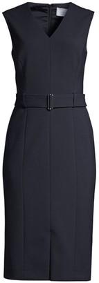 BOSS Dadorina Belted Ponte Stretch Dress