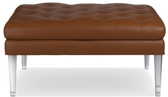 Williams-Sonoma Lucite Leather Ottoman