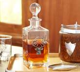 Pottery Barn Stag Medallion Decanter