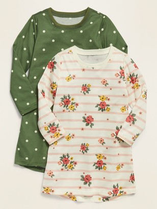 Old Navy Patterned Jersey Nightgown 2-Pack for Toddler Girls & Baby