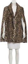 Anna Sui Faux Fur Leopard Printed Cape