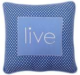 "One Grace Place Simplicity Throw Pillow Live - Blue (11""x11""x3.5"")"