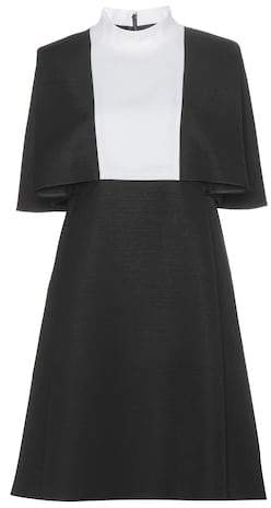 Valentino Two-tone wool dress