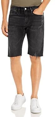 Frame L'Homme Slim Fit Cut-Off Shorts in Bishop