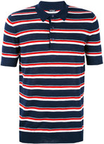 Kiton striped polo shirt - men - Silk/Linen/Flax - M