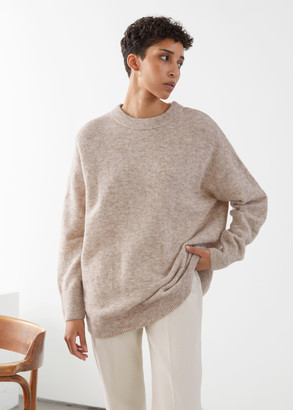 And other stories Oversized Alpaca Blend Relaxed Sweater