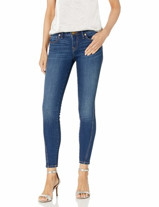True Religion Women's Halle Ankle Mid Rise Skinny Leg fit Jean with Forward Seams