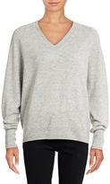 Vince V-Neck Cashmere-Linen Sweater