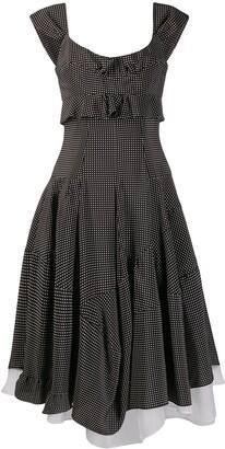 Ermanno Scervino Silk Asymmetric Midi Dress