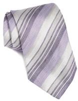 John Varvatos Men's Stripe Silk & Linen Tie