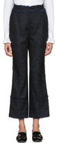 Erdem - Pantalon à carreaux bleu Veri