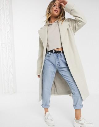 Helene Berman wrap wool blend coat