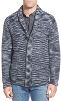 Schott NYC Space Dye Wool Blend Button Cardigan