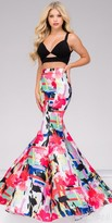 Jovani Multi Color Two Piece Mermaid Prom Dress