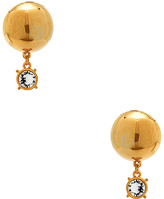 LPA for FWRD Sphere Stud Earrings with Crystal
