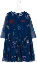 Stella McCartney embroidered tulle dress - kids - Cotton/Polyester - 2 yrs