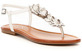 Jessica Simpson Kiandra Flat T-strap Sandal with Floral Detail