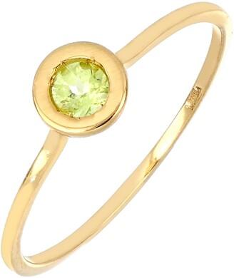 Bony Levy Iris Peridot Bezel Stacking Ring