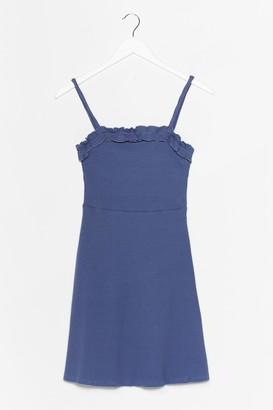 Nasty Gal Womens Ruffle Up Trouble Mini Dress - Dusty Blue