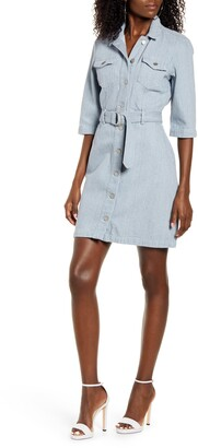 AWARE BY VERO MODA VERO MODA Runa Short Sleeve Denim Shirtdress