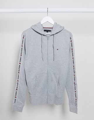 Tommy Hilfiger authentic taping lounge hoodie in grey