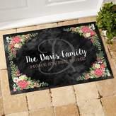 Posh Floral Welcome 18-Inch x 27-Inch Doormat