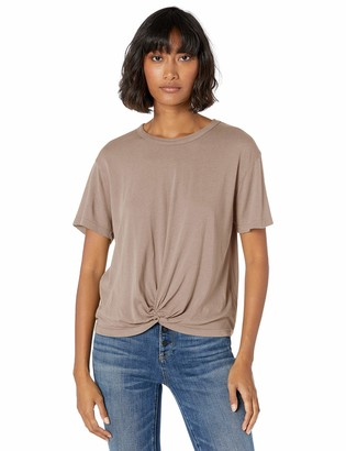 Monrow Women's Tee w/Twisted Front