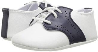 Janie and Jack Saddle Crib Shoes (Infant) (White) Boys Shoes