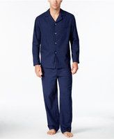 Club Room Men's Pinstriped Flannel Pajama Set, Only at Macy's