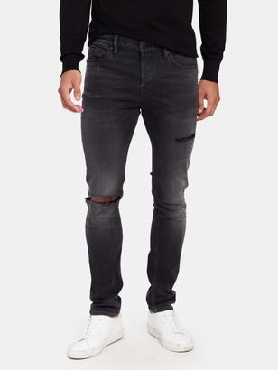 AllSaints Cigarette Damaged Skinny Jeans