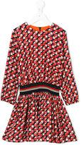 Paul Smith geometric pattern gathered dress - kids - Viscose - 2 yrs