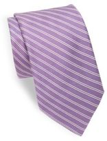 Ike Behar Sublime Double Stripe Cotton-Blend Tie