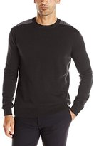 French Connection Men's Nylon-Trimmed Crew Sweater