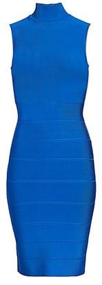 Herve Leger Icon Mockneck Dress