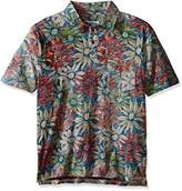 Margaritaville Men's Printed Paradise Polo