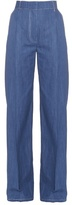 Sonia Rykiel Wide-leg cotton-chambray trousers