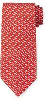 Salvatore Ferragamo Flying Fish Printed Silk Tie