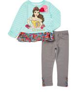 Children's Apparel Network Blue Belle Top & Pants - Toddler & Girls