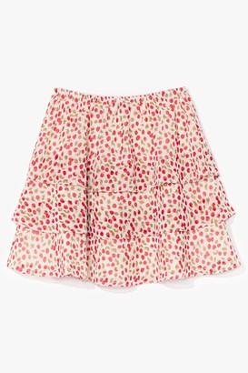 Nasty Gal Womens Sweet Memories Cherry Mini Skirt - White