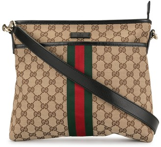 Gucci Pre-Owned Shelly Line GG Supreme crossbody bag