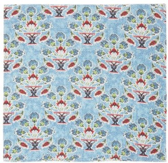 D'Ascoli Set Of Four Symryna Floral-print Napkins - Blue Print
