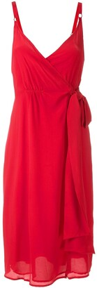 Eva Draped Wrap Sleeveless Dress